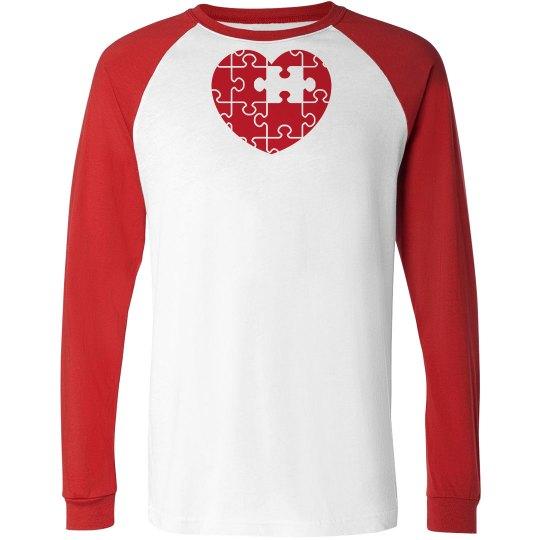 Unisex Autism Heart Shirt
