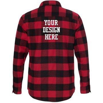 Unisex Burnside Long Sleeve Plaid Flannel Shirt