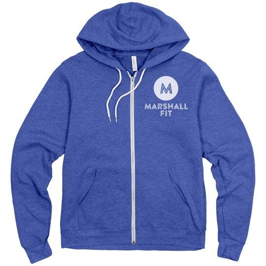 Unisex Fleece Zip Up Hoodie