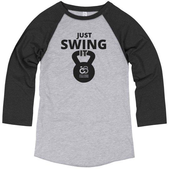 Unisex Just Swing It 3/4 Sleeve T-Shirt