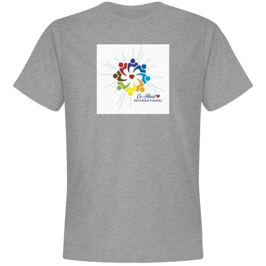 "Unisex Premium Tshirt ""Love Heals"" back"
