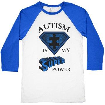 Unisex Raglan Autism POWER T