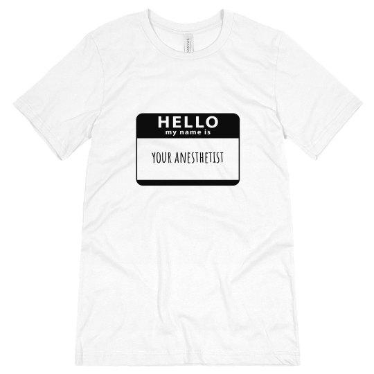 Unisex T- Hello my name is
