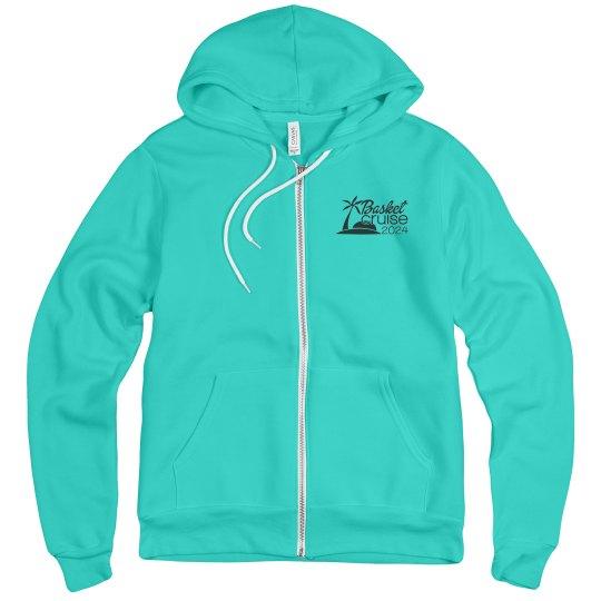 Unisex Zip Hoodie with Black Logo