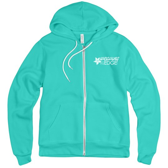 Unisex Zip Hoodie with White Logo