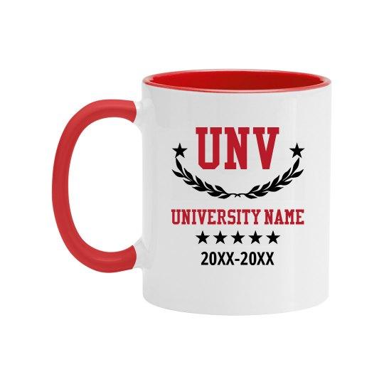 University Initials Custom Mug