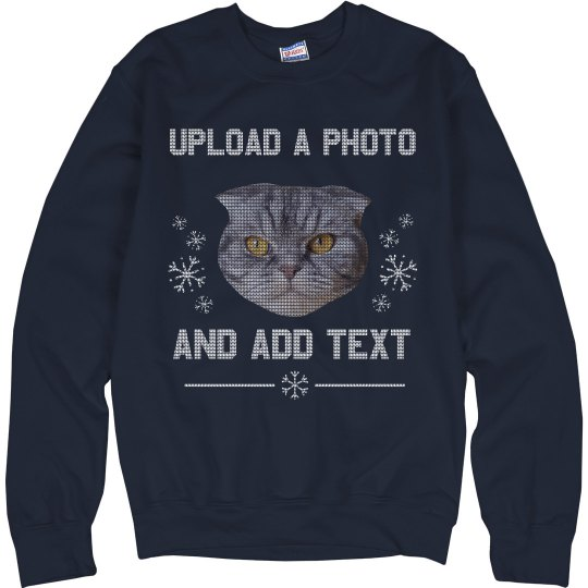 Upload Head Winter Ugly Sweater