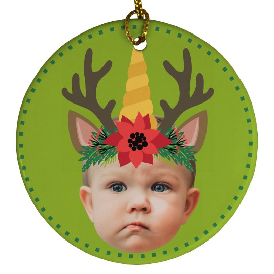 Upload Photo Baby Reindeer Gift