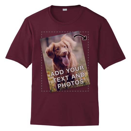 Upload Photo Or Logo Workout Shirt