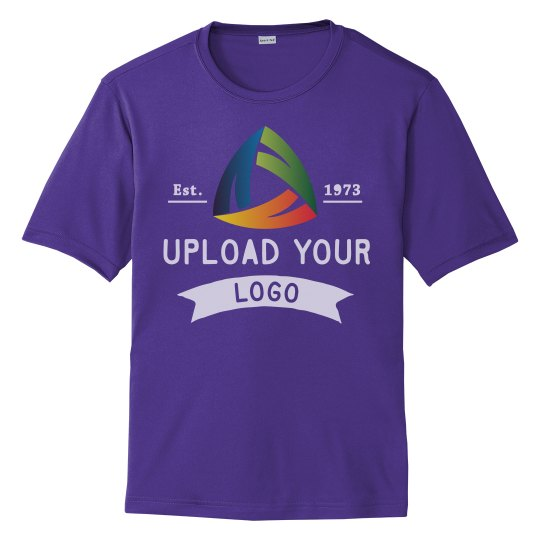 Upload Your Logo Custom Unisex Performance Tee