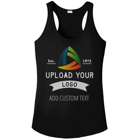 Upload Your Logo Custom Women's Workout Racerback