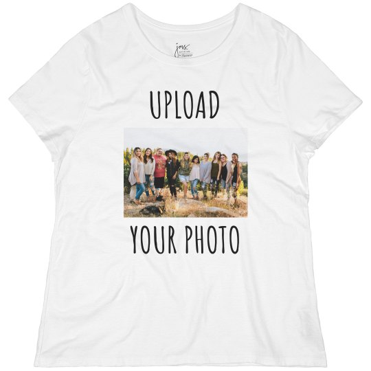 Upload Your Photo & Create a Custom Plus Size Tee