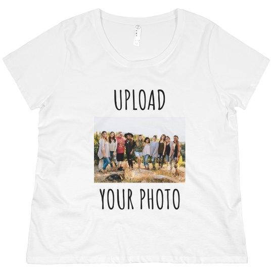Upload Your Photo & Create a Custom Plus Size Tee