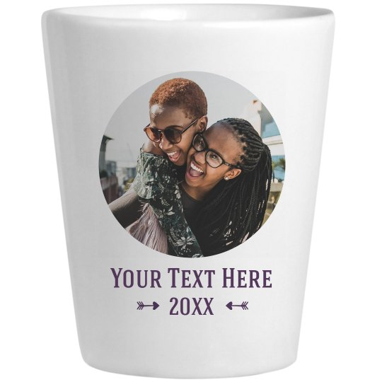 Upload Your Photo Custom Shot Glass