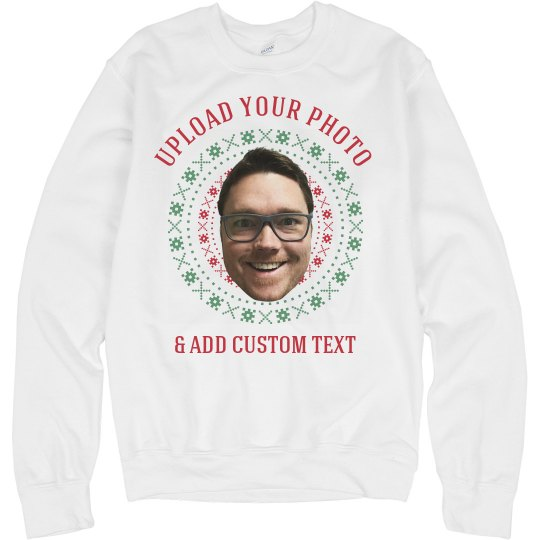 Upload Your Photo Ugly Xmas Sweater