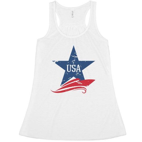 USA Distressed Star