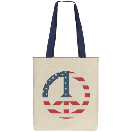USA Peace Sign July Fourth Bag