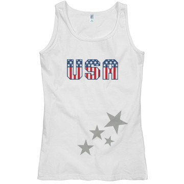 Usa star top