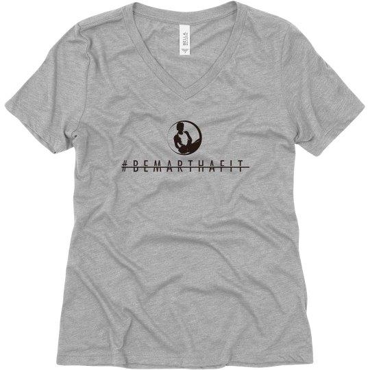 V neck short sleeve logoed Tee