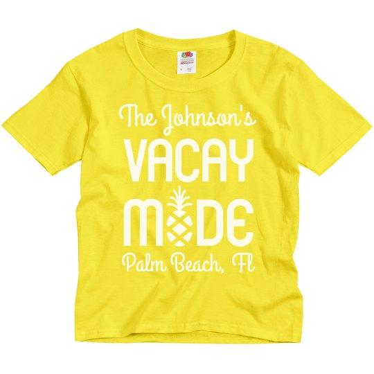 Vacation Mode Family Beach Shirts