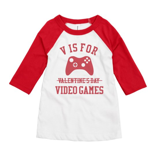 Valentine's Day Kids Video Gamer