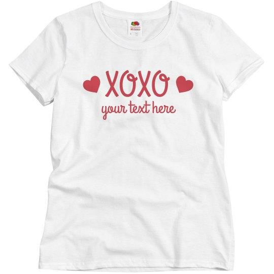 Valentine's Day XOXO Couples tee