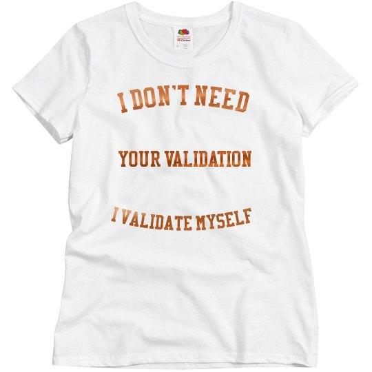 Validation shirt