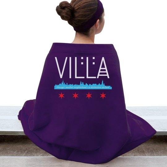 Villa Chicago Skyline-Flag Logo Blanket
