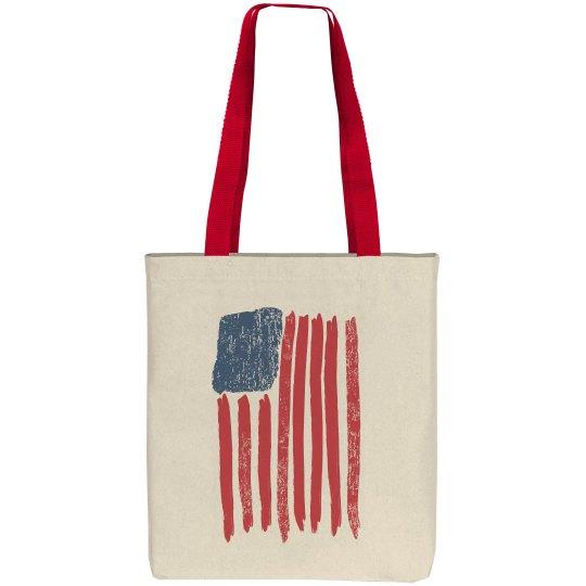 Vintage American Flag USA Bag