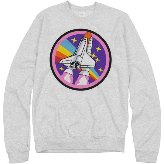 Vintage NASA Rainbow Logo Science