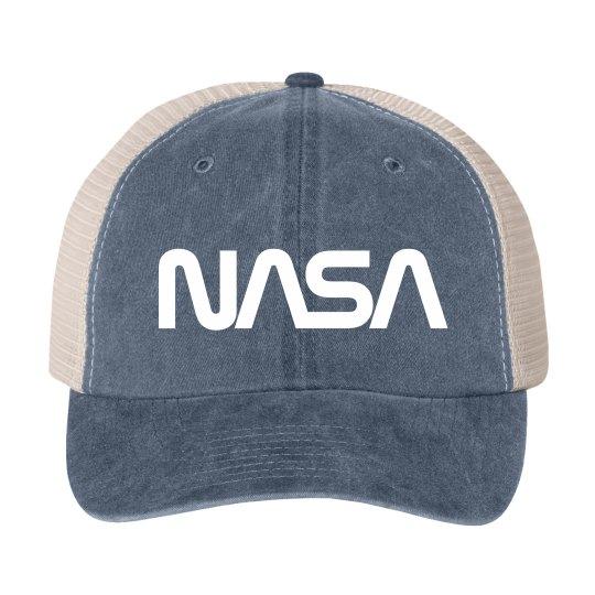 Vintage NASA Worm Logo Science Hat