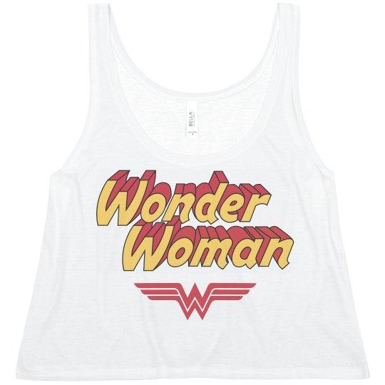 Vintage Wonder Woman Crop