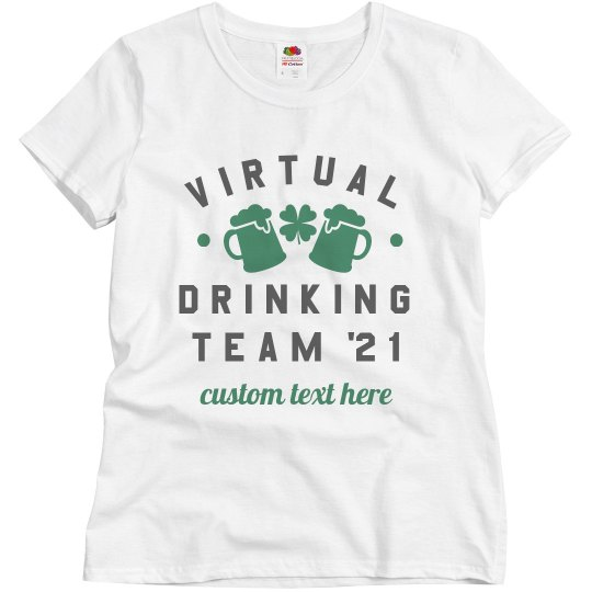 Virtual Drinking Team Custom Text Top