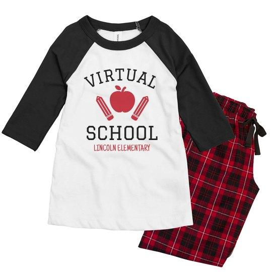 Virtual School Custom Youth Pajamas