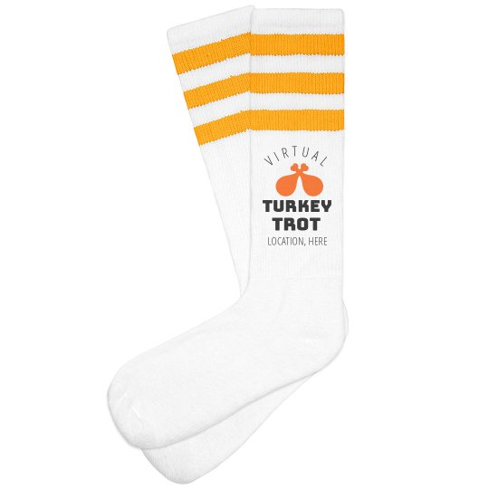 Virtual Turkey Trot Custom Socks