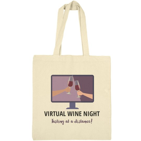 Virtual Wine Night Take Home Wine Tote