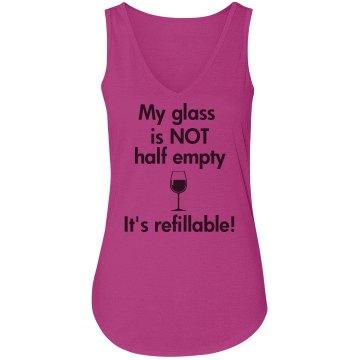 Vneck tank wine glass refillable