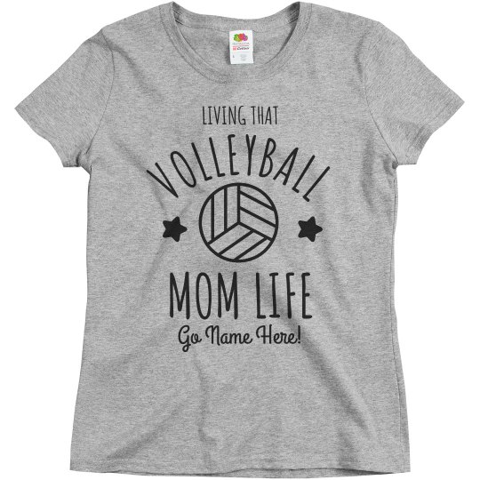 Volleyball Custom Basic Mom Life