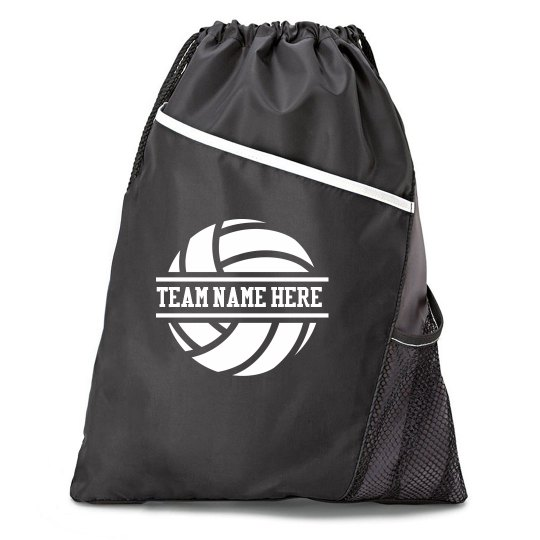 Volleyball Custom Cinch Bag