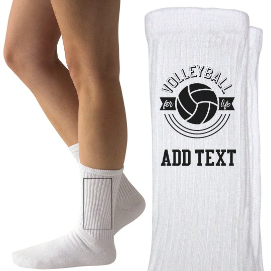 Volleyball For Life Custom Text