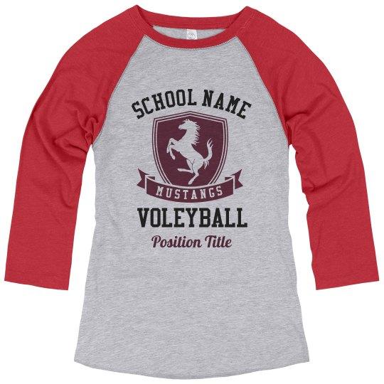 Volleyball Mascot Custom Tee
