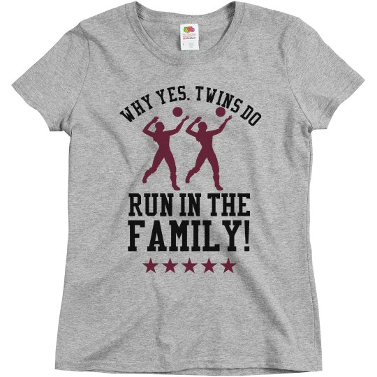 Volleyball Mom to Volleyball Twins Custom Shirts