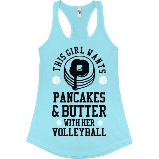 Volleyball Pancakes & Butter