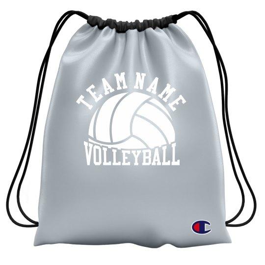 Volleyball Team Custom Drawstring Bag