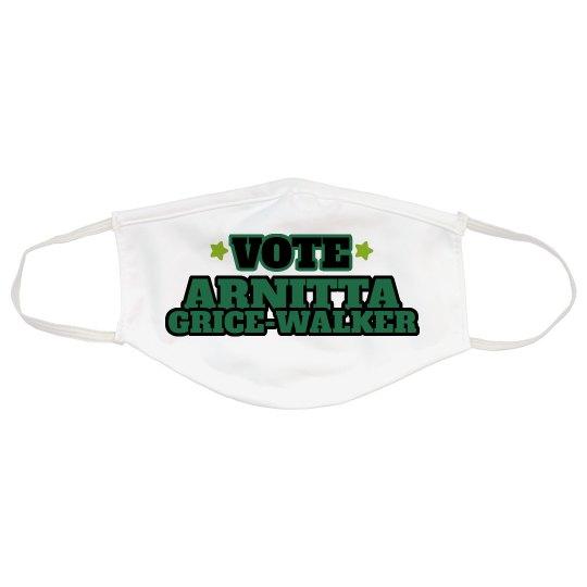 Vote Arnitta Grice-Walker Face Mask