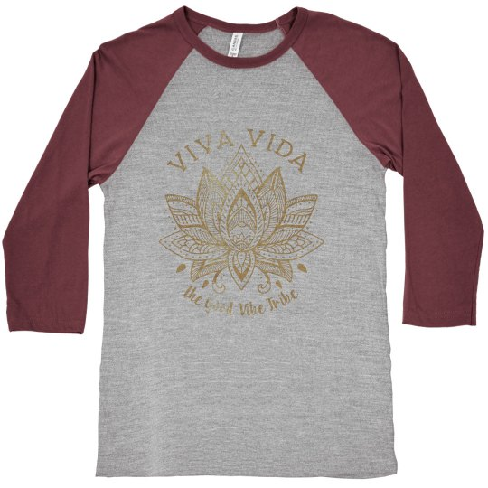 VV Gold & Grey Baseball T