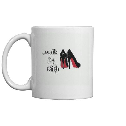 Walk by faith red bottom heels