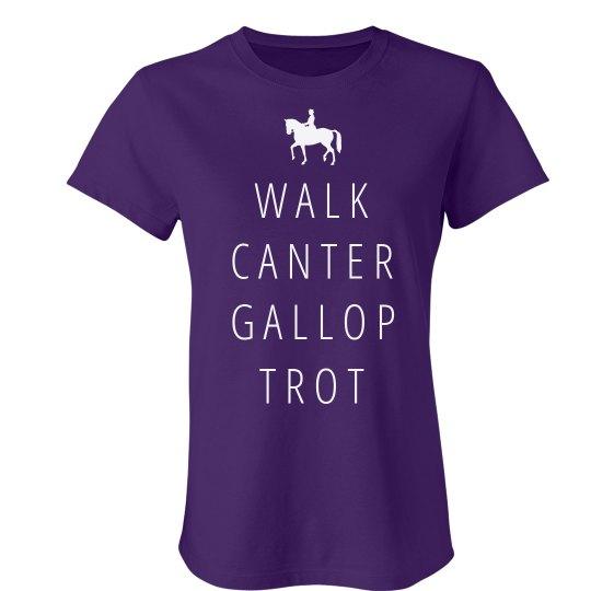 Walk, Canter, Gallop