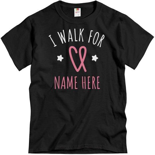 Walking For Charity Custom