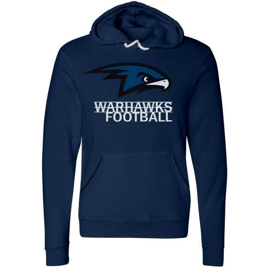 Warhawks Football Hoodie with Name and Number